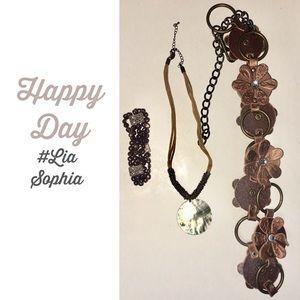 Lia Sophia Beachy Necklace bracelet belt set
